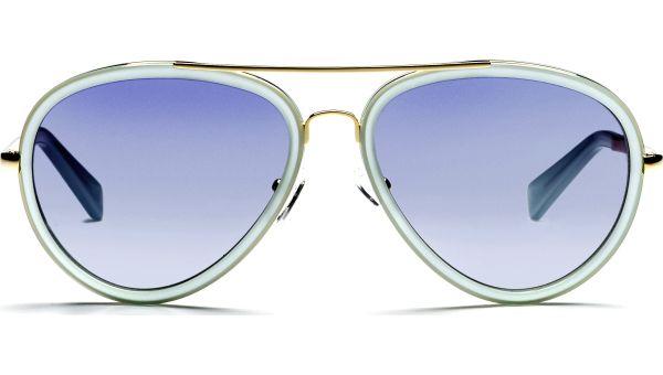 Kaidi 5717 gold/hellblau/transparent von Lennox Eyewear