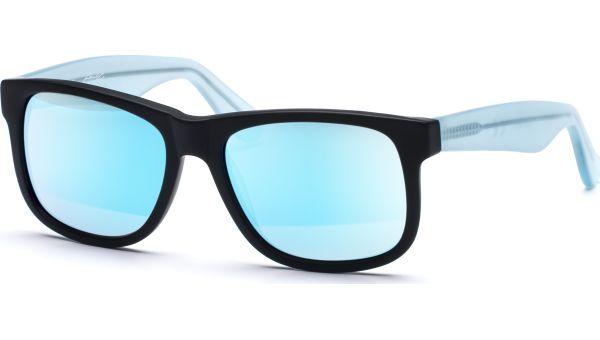 Husano small 5216 matt schwarz/matt blau transparent, Verspiegelt, CAT 3 von Lennox Eyewear
