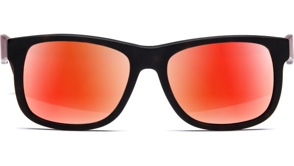 Husano small 5216 matt demi-braun/matt rot transparent, Verspiegelt, CAT 3 von Lennox Eyewear