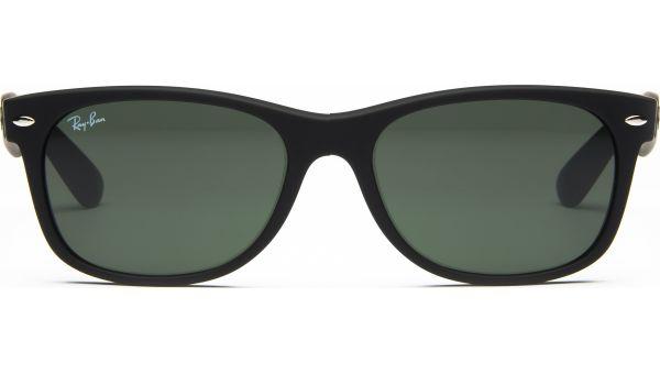 New Wayfarer 2132 622 5518 Black Rubber/Crystal Green von Ray-Ban