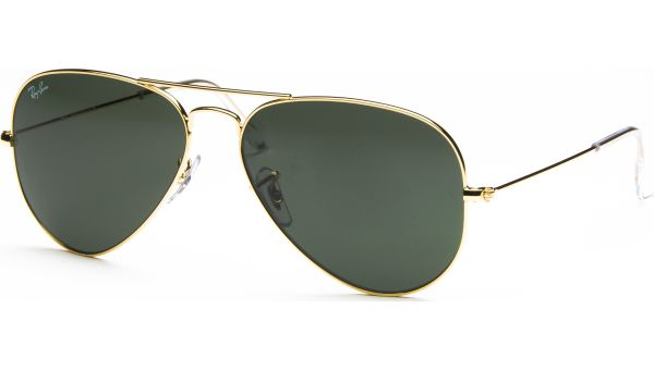 Aviator Metal Medium 3025 L0205 5814 Arista/Crystal Green von Ray-Ban
