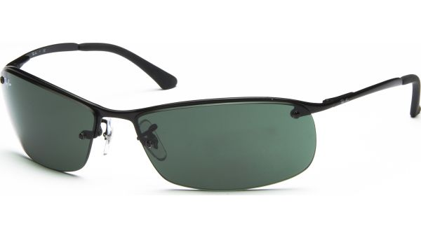 Top Bar 3183 006/71 6315 Matte Black/Green von Ray-Ban