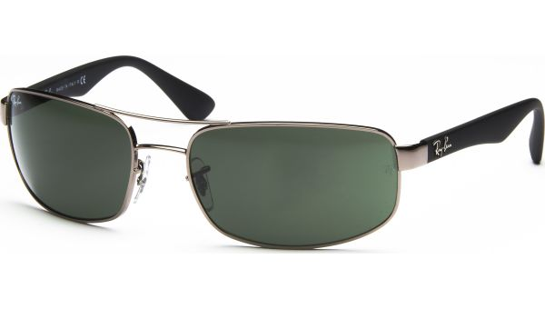 3445 004 6117 Gunmetal/Crystal Green von Ray-Ban