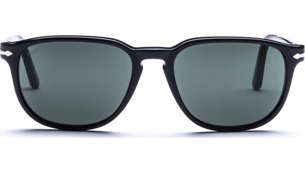 3019S 95/31 5518 Black/Crystal Green von Persol