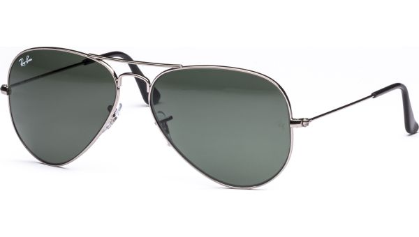 Aviator Metal Medium 3025 W0879 5814 Gunmetal/Crystal Green von Ray-Ban