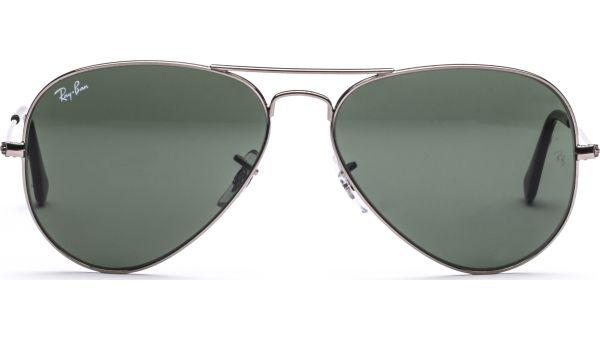 Aviator Metal Medium 3025 W0879 5814 Gunmetal/Crystal Green von Ray-Ban