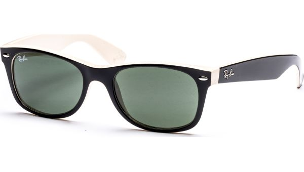 New Wayfarer 2132 875 5218 Top Black on Beige/Crystal Green von Ray-Ban