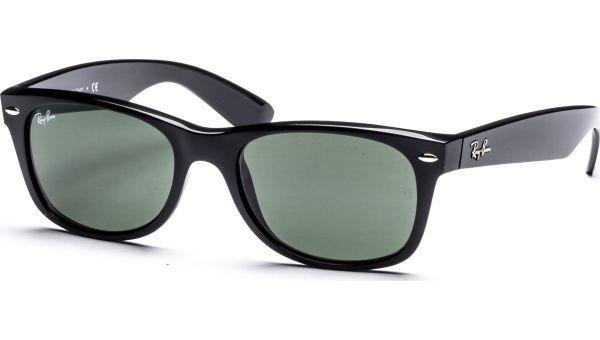 New Wayfarer 2132 901 5218 Black/Crystal Green von Ray-Ban