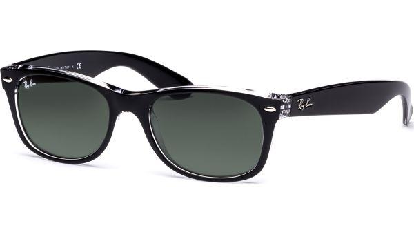 New Wayfarer 2132 6052 5218 Top Black on Transparent/Green von Ray-Ban