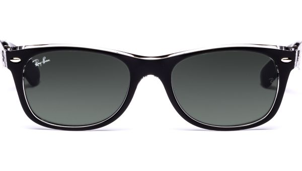 New Wayfarer 2132 6052 5218 Top Black on Transparent/Green von Ray-Ban