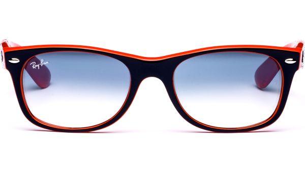 New Wayfarer 2132 789/3F 5218 Top Blue Orange/Crystal Gradient Light Blue von Ray-Ban