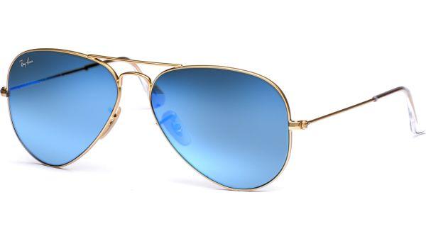 Aviator Metal Medium 3025 112/17 5814 Matte Gold/Crystal Green Mirror Multi Blue von Ray-Ban