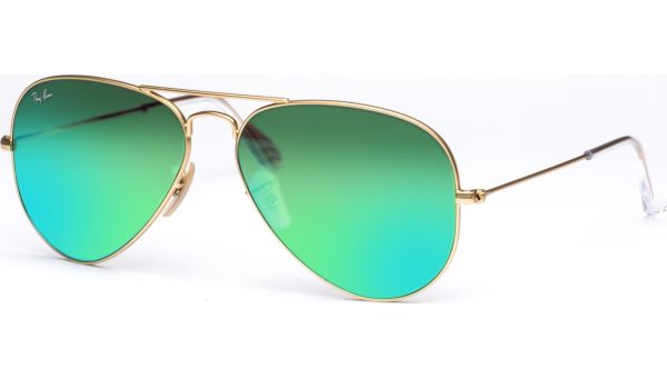 Aviator Metal Medium 3025 112/19 5814 Matte Gold/Crystal Green Mirror Green von Ray-Ban