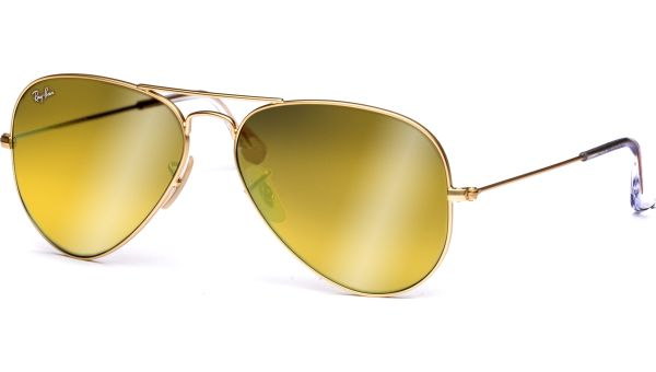 Aviator Metal Medium 3025 112/93 5814 Matte Gold/Brown Mirror Gold von Ray-Ban