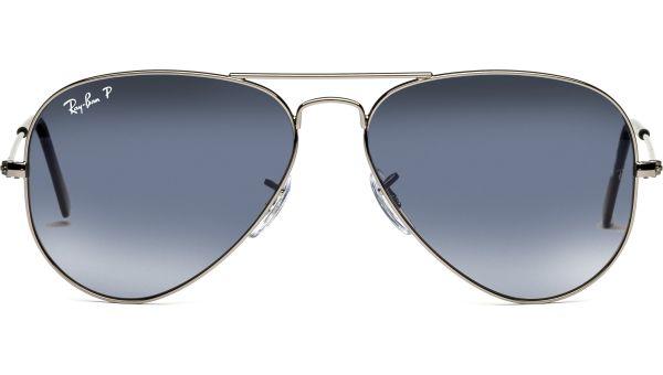 Aviator Metal Medium 3025 004/78 5814 Gunmetal/Cyl Pol Blue Grd Grey von Ray-Ban