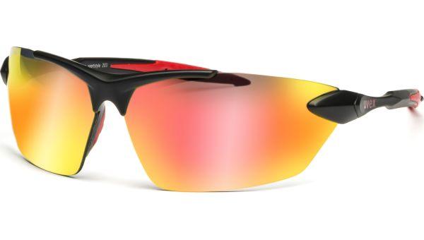 sportstyle 203 S530524 2213 7912 black mat red/red von Uvex