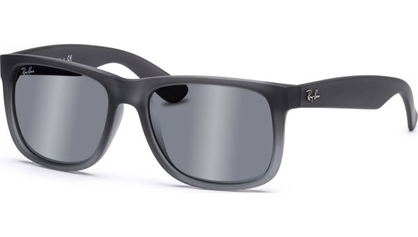Justin 4165 852/88 5416 Rubber Grey/Transparent Grey Silver Mirror Gradient von Ray-Ban