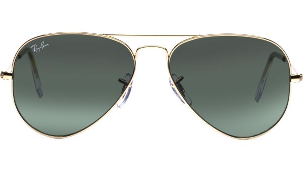 Aviator Metal Small 3025 W3234 5514 Arista/Grey Green von Ray-Ban