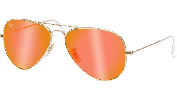 Aviator Metal Medium 3025 112/69 5814 Matte Gold/Cyl Brown Mr Orange von Ray-Ban