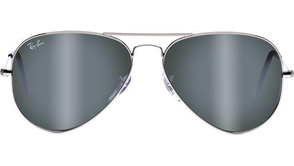 Aviator Metal Medium 3025 W3277 5814 Silver/Crystal Grey Mirror von Ray-Ban