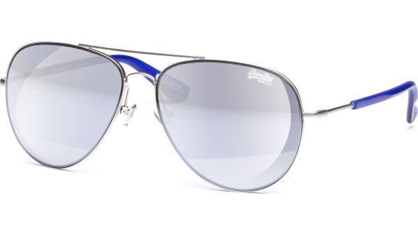 SDS Edison 002 5913 Matte silver/Blue smoke with silver flash mirror von Superdry
