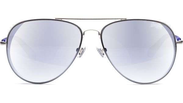 SDS Edison 002 5913 Matte silver/Blue smoke with silver flash mirror von Superdry