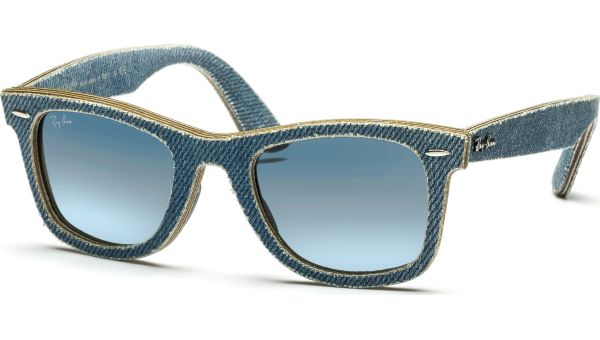 Denim Wayfarer 2140 11644M 5022 Jeans Azure/Blue Gradient Grey von Ray-Ban