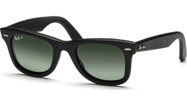 Wayfarer 2140QM 1152N5 5022 Black Leather Used/Polar neophan green von Ray-Ban