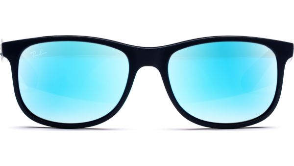 Andy 4202 615355 5517 Shiny Blue On Matte Top/Green Mirror Blue von Ray-Ban