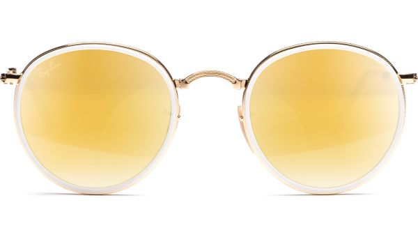 Round 3517 001/93 4822 Gold/Brown Mirror Gold von Ray-Ban