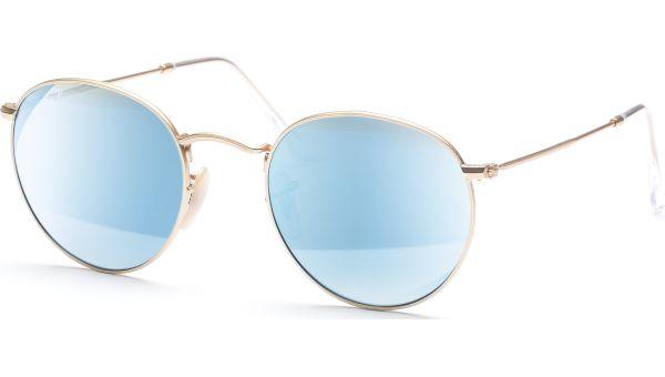 Round Metal 3447 112/4L 5021 Matte Gold/Blue Mirror Polar von Ray-Ban