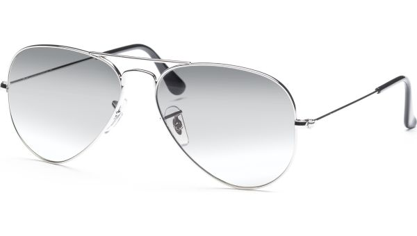 Aviator Metal Small 3025 003/32 5514 Silver/Crystal Grey Gradient von Ray-Ban