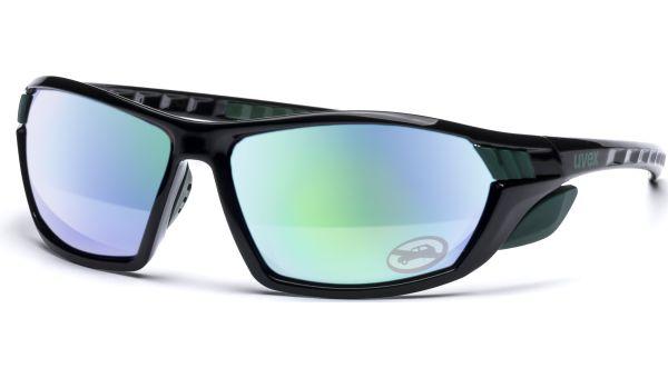 sportstyle 307 S530889 2716 6116 black green/mirror green von Uvex