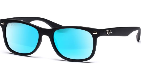 Junior New Wayfarer 9052S 100S55 4816 Matte Black/Blue Mirror von Ray-Ban