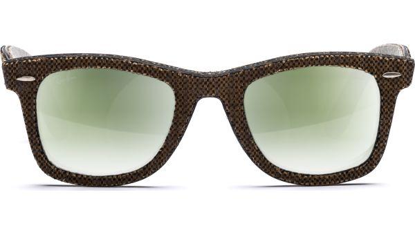 Wayfarer 2140 11912X 5022 Top Osaka Brown on Jeans Grey/Green mirror Green von Ray-Ban