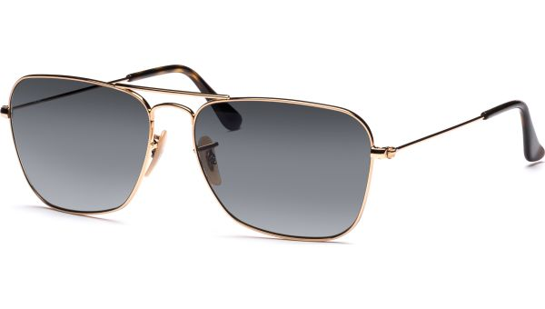 Caravan 3136 181/71 5815 Gold/Light Grey Gradient Dark Grey von Ray-Ban