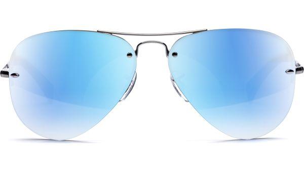 3449 004/55 5914 Gunmetal/Light Green Mirror Blue von Ray-Ban