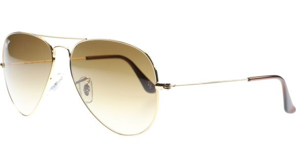 Aviator Metal Medium 3025 001/51 5814 Arista/Crystal Brown Gradient von Ray-Ban