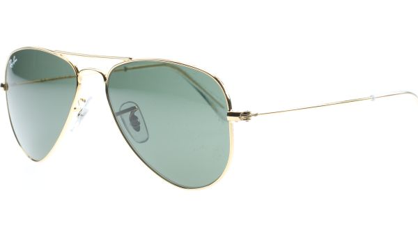 Aviator Small Metal 3044 L0207 5214 Arista/Crystal Green von Ray-Ban