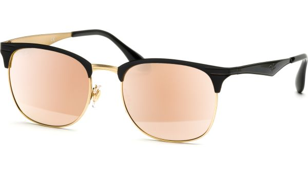 3538 187/2Y 5319 Black On Gold/Rose Mirror Rose von Ray-Ban