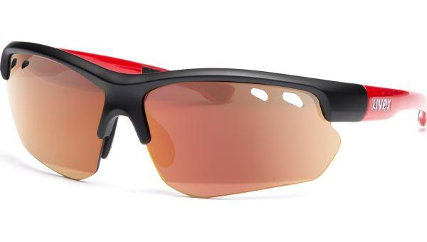 Uvex sportstyle 115 S530978 2316 7517 black mat red von Uvex