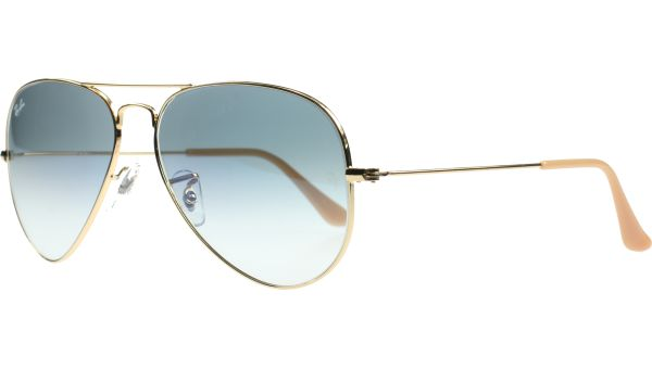 Aviator Metal Large 3025 001/3F 6214 Gold von Ray-Ban