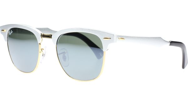 Clubmaster Aluminium 3507 137/40 4921 Brushed Silver von Ray-Ban
