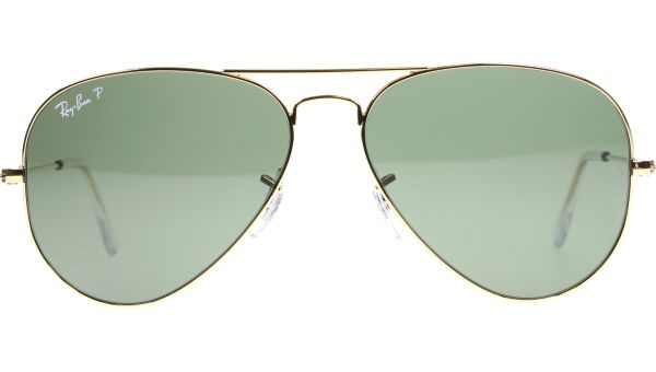 Aviator Metal Medium 3025 001/58 5814 Gold von Ray-Ban
