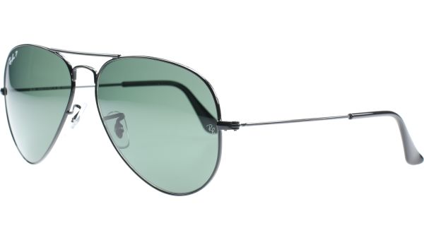 Aviator Metal Large 3025 002/58 6214 Black von Ray-Ban