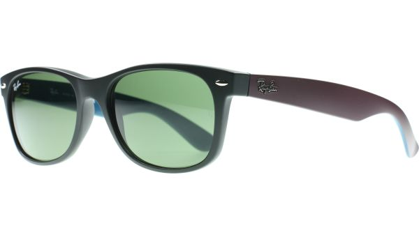 New Wayfarer 2132 6182 5518 Black / Dark Purple von Ray-Ban