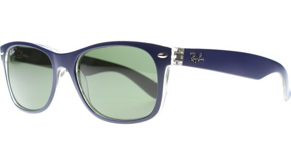 New Wayfarer 2132 6188 5518 Matte Blue / Military Green von Ray-Ban