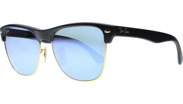 Clubmaster Oversized 4175 877/30 5716 Demi Shiny Black von Ray-Ban