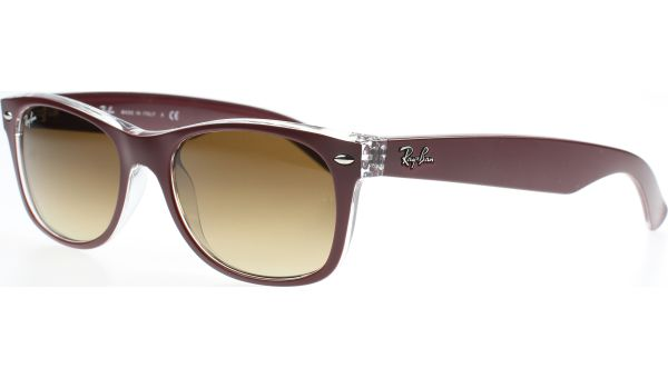 New Wayfarer 2132 605485 5218 Matte Bardo / Transparent von Ray-Ban