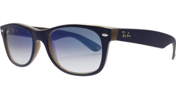 New Wayfarer 2132 63083F 5218 Matte Blue / Opal Brown von Ray-Ban